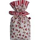 Geschenkbeutel Verpackung aus Stoff Herzblume auf...
