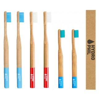 Hydrophil Bambus-Zahnbürste Family Pack 6er-Set
