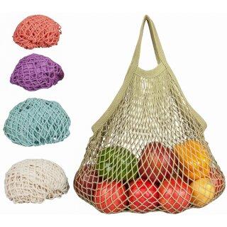 Ecobags Obst- und Gemüsenetz Kurzer Henkel Baumwolle