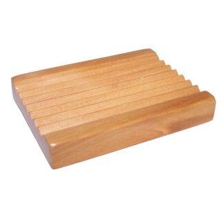 Holzseifenschale rechteckig gezackt