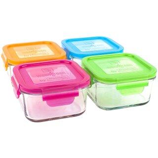weangreen Lunch Cubes Glasbehälter Garden Pack 4er-Set/480 ml
