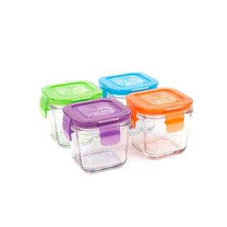 weangreen Wean Cubes Glasbehälter Garden Pack 4er-Set/120 ml