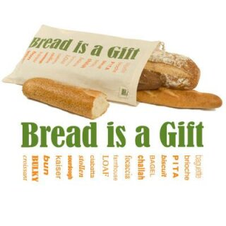 Ecobags Brotbeutel Bio-Baumwolle Bread is a Gift