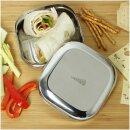 Edelstahl Lunchbox Medium Square 500  ml