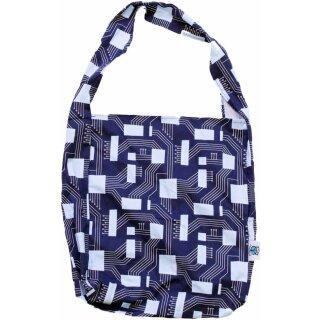 Shopping Bag Einkaufsbeutel Navy Circuit