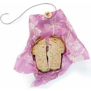 Bees Wrap Bienenwachstuch Sandwich Mimis Purple