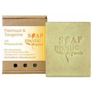 Bio-Olivenölseife Patchouli & Tangerine mit Rhassoulerde 100 g