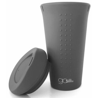 gosili Silikon Kaffeebecher Coffee- to-go grau