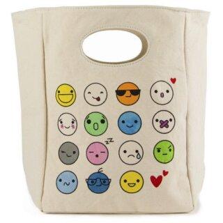Fluf Lunchbag Bio-BW Emoji