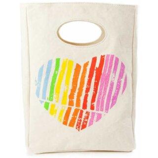 Fluf Lunchbag Bio-BW I Heart You