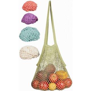 Ecobags Obst- und Gemüsenetz Langer Henkel Baumwolle