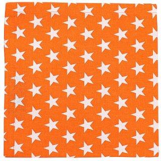 Krasilnikoff Stoffserviette 40x40 cm Stars orange-weiß