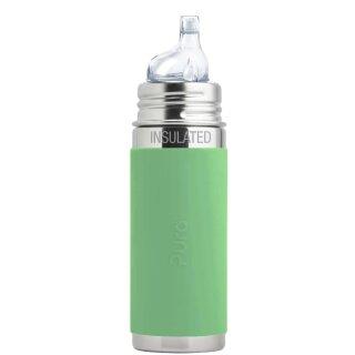 Purakiki Isolierte Trinklernflasche 260 ml mit Silikon-Sleeve