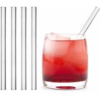 Trinkhalm aus Glas 4er-Set gerade