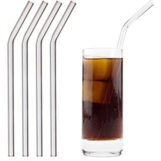 Trinkhalm aus Glas gerade 4er-Set gerade
