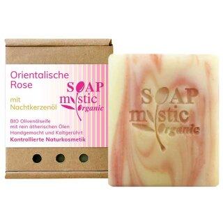 Bio-Olivenölseife Orientalische Rose mit Nachtkerzenöl 100 g