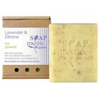 Bio-Olivenölseife Lavendel & Zitrone mit Jojobaöl 100 g