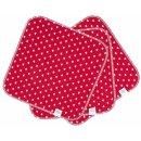 ZW waschbare Spül- und Küchentücher 3er-Set Red Hearts