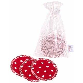 ZW waschbare Abschminkpads 10er-Set Red Hearts