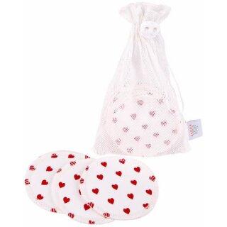 ZW waschbare Abschminkpads 10er-Set White Hearts
