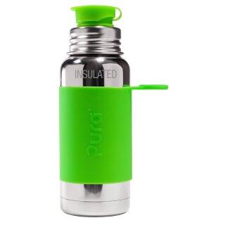 Purakiki Isolierte SPORTflasche 500 ml mit Silikon-Sleeve