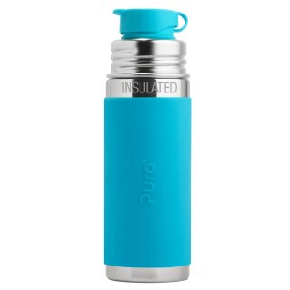 Purakiki Isolierte SPORTflasche 260 ml mit Silikon-Sleeve