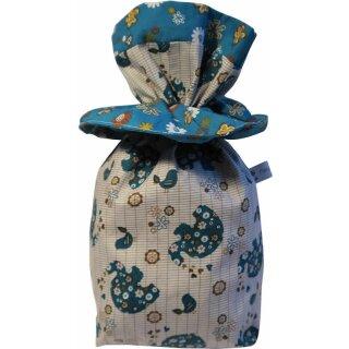 Geschenkbeutel Verpackung aus Stoff Elefant blau