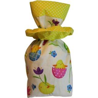 Geschenkbeutel Verpackung aus Stoff Osterküken