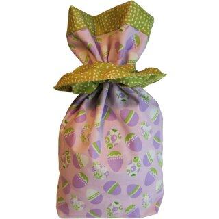 Geschenkbeutel Verpackung aus Stoff Ostereier flieder