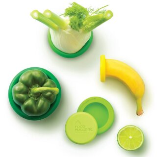 Food Huggers Silikon-Deckel Fresh Green 5er-Set