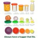 Food Huggers Silikon-Deckel Fresh Green 5er-Set