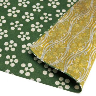 Furoshiki Tuch Japanese Apricot Green/Yellow 48x48 cm