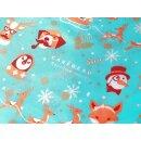 Furoshiki Tuch Cadeau Where is Santa? 85x85 cm