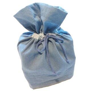 Geschenkbeutel mit Zugband Medium Jeansblau