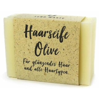 Zero Waste Haarwaschseife Olive