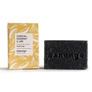 Babongo Gesichtsseife Aktivkohle, Rosmarin & Limette