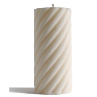Babongo Spiralzylinder-Kerze aus Rapswachs