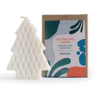 Babongo Kerze aus Rapswachs Christmas Tree Diamond