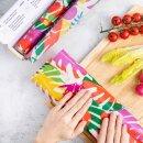 Leaf Wrap Wachstücher Vegan auf der Rolle 100 cm