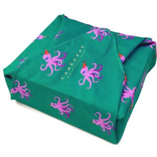 Furoshiki Tuch Cadeau Dancing Octopus 30x30 cm